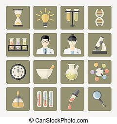 Vector Science and research Web Icons