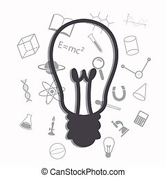 Vector Science Background - Vector Illustration of a Science...