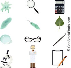Vector Sciense icons - Vector image of a set of biology...