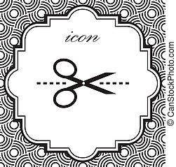 Vector scissors icon