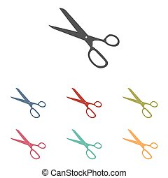 Vector scissors icons set