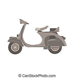 Vector scooter flat icon delivery illustration