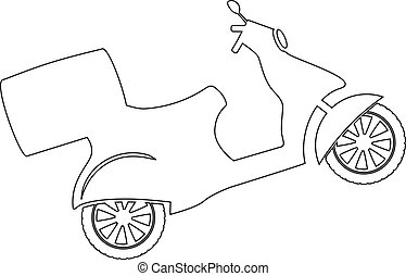 Vector Scooter - Outline illustration of scooter