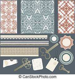 vector scrapbook design elements