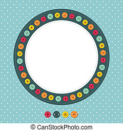 Vector scrapbook photo frame