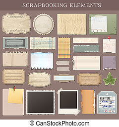 Vector Scrapbooking Elements - Collection of various ...
