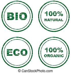 vector scratched eco stamps