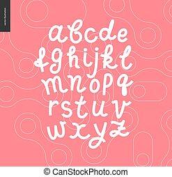 Vector script alphabet 8