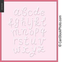 Vector script alphabet 9