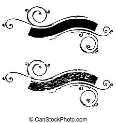 Vector Scroll and Distressed Scroll