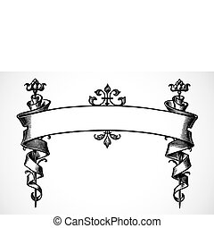 Highly detailed vector scroll ornament. Easy to edit.