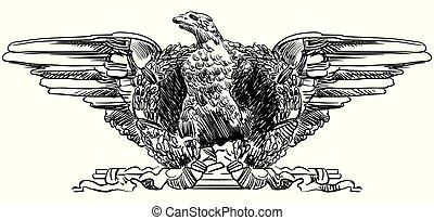 Vector sculpture eagle