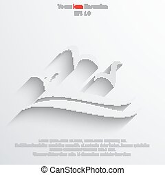 Vector sea gulls icon