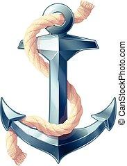 vector sea maritime icon Anchor