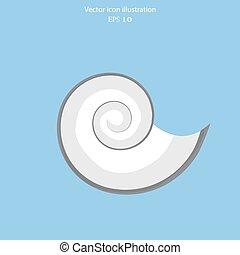Vector sea shell icon