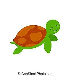 Vector Sea Turtle
