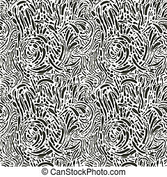 vector seamless abstract background with dots, monochrome, 4 clipping mask