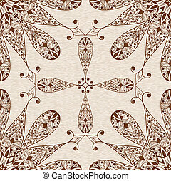 Vector Seamless Abstract Ethnic  Floral Patten