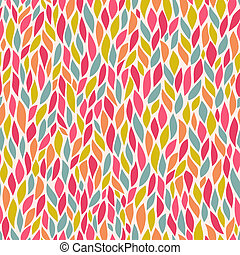 vector seamless abstract hand-drawn pattern, leaf backdrop, Endless background. Ethnic seamless pattern. Vector backdrop. Bright pattern.