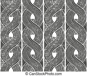 Vector seamless abstract pattern. Hand drawn background.