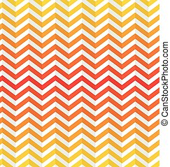 Vector Seamless Abstract Toothed  Background in Warm Colors