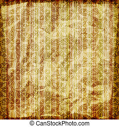 vector seamless abstract wallpaper on striped background, crumpled burning paper texture