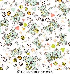 Vector seamless animal pattern