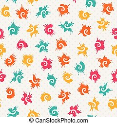 Vector seamless baby pattern