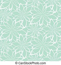 Vector seamless background. Flowers on a light blue background