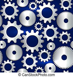 Vector seamless background in tech style with golden gears