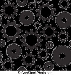 Vector seamless background in tech style with gray gears