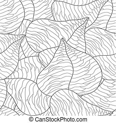 Vector seamless background - leaves