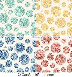 vector seamless background pattern of abstract line circles