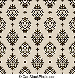 Vector Seamless Background Pattern - Repeating vector floral...