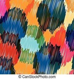 Vector seamless background pattern, with circles, strokes and splashes.