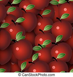 Vector Seamless Background with Apples