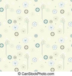 vector seamless background with branches