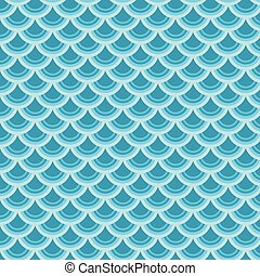 Vector seamless background with colorful fish scale pattern