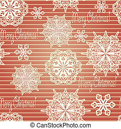 Vector Seamless Background with paper cut snowflakes