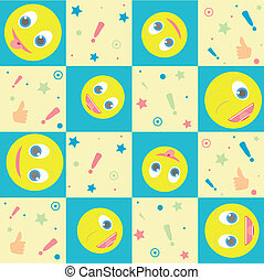 vector seamless background with smiles