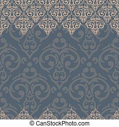 Vector seamless baroque damask luxury background