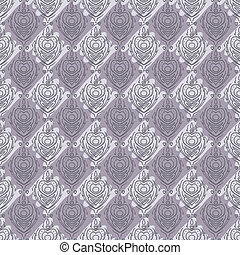 Vector seamless baroque damask luxury purple background