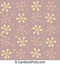 Vector seamless beautiful flower pattern