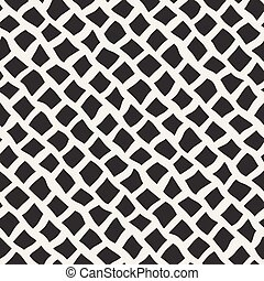 Vector Seamless Black and White Distorted Pavement Pattern