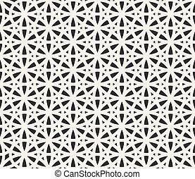 Vector Seamless Black and White Geometric Hexagonal Line ...