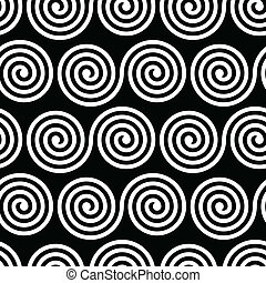Seamless Black and White Pattern - Vector Seamless Black and...
