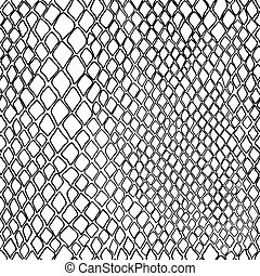 vector seamless black and white pattern of snake