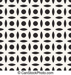 Vector Seamless Black And White Simple Circle Arc Square...