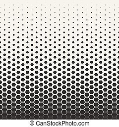 Vector Seamless Black and White Transition Halftone...