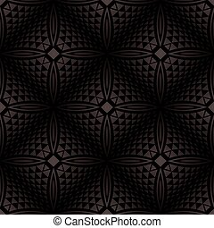 Vector - Seamless black geometrical background